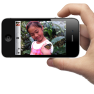 iphone camera grip with volume-up button