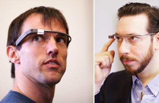왼쪽: 구글 글래스 개발 책임자인 스티브 리, 오른쪽: 더버지 발행인 조슈아 토폴스키. (사진 출처: 더버지)
