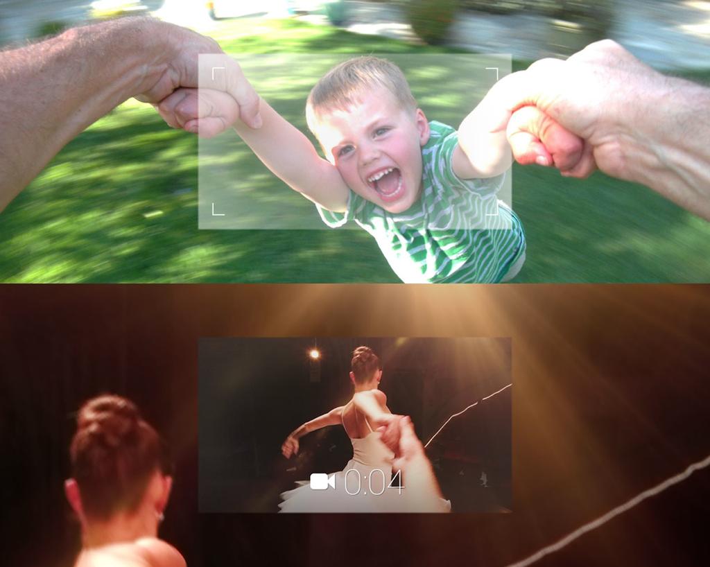 구글 글래스의 사진, 동영상 촬영 데모 화면 (사진 출처: 구글 글래스)