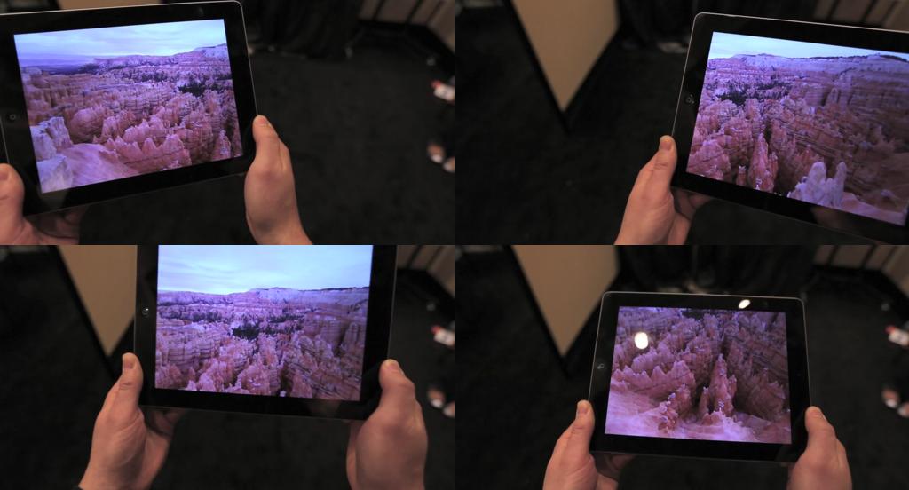 컨디션 원(Condition One)의 아이패드 앱 데모 화면 (출처: 컨디션 원 @비메오)