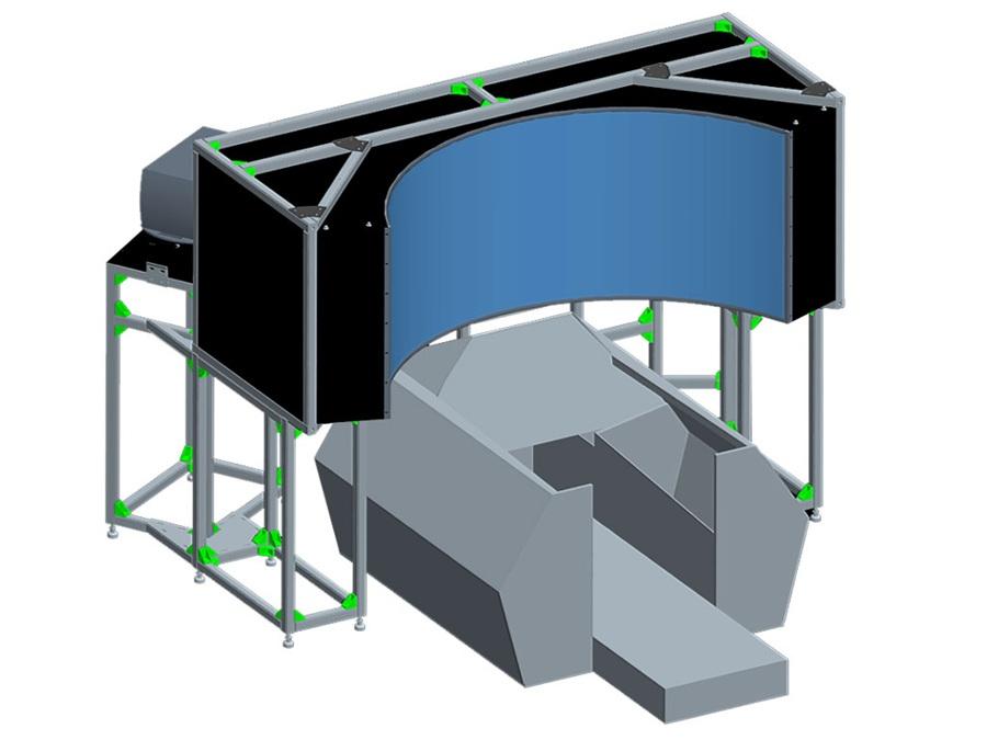 바코(Barco)의 시양각 120도 곡면 디스플레이 시스템, 할로(HALO) (출처: 바코)