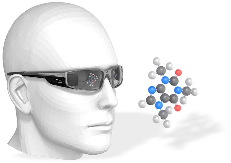 뷰직스의 스마트 안경 컨셉 일러스트레이션 (출처: 뷰직스 홈페이지)
