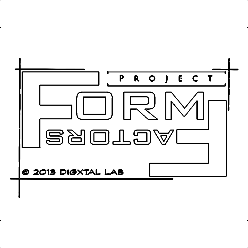 Project Form-Factors Logo sketch
